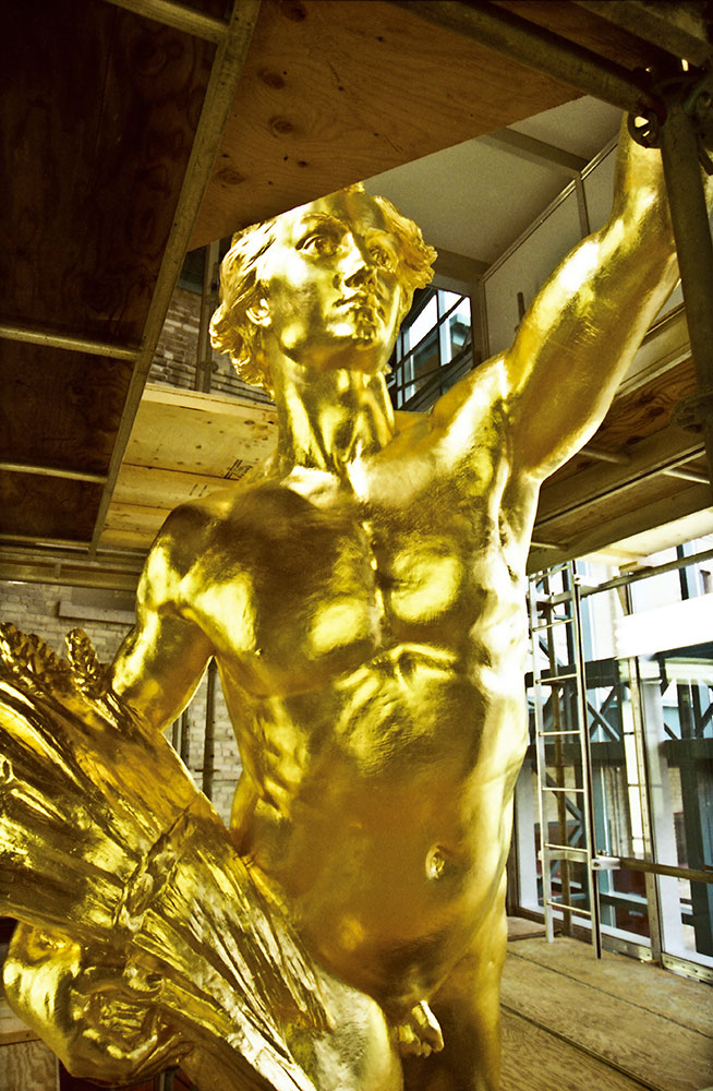 Golden Boy Sculpture - 23.75KT Gold Leaf