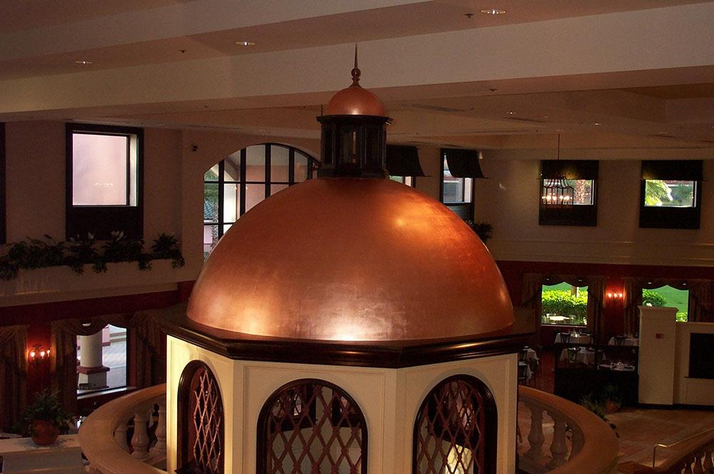 Interior Copper Leaf Dome in Orlando, Florida