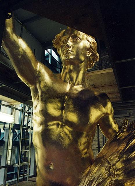 Golden Boy Sculpture - 23.75KT Gold Leaf