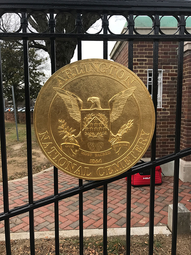 Arlington National Cemetery Gate Medallion 23.75kt Golf Leaf