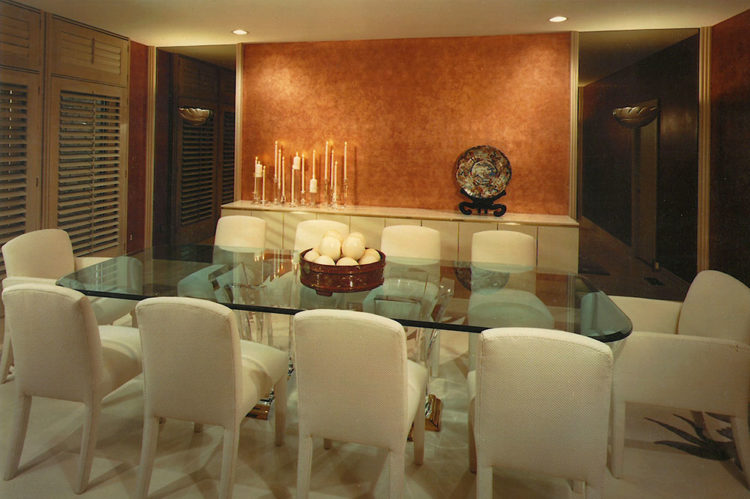 Gilded Copper Dining Room
