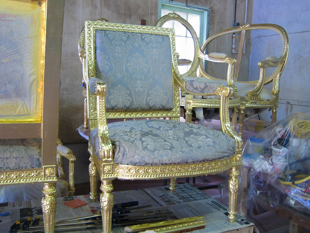 18th Century Chairs, Private Residence, Nassau, Bahamas.