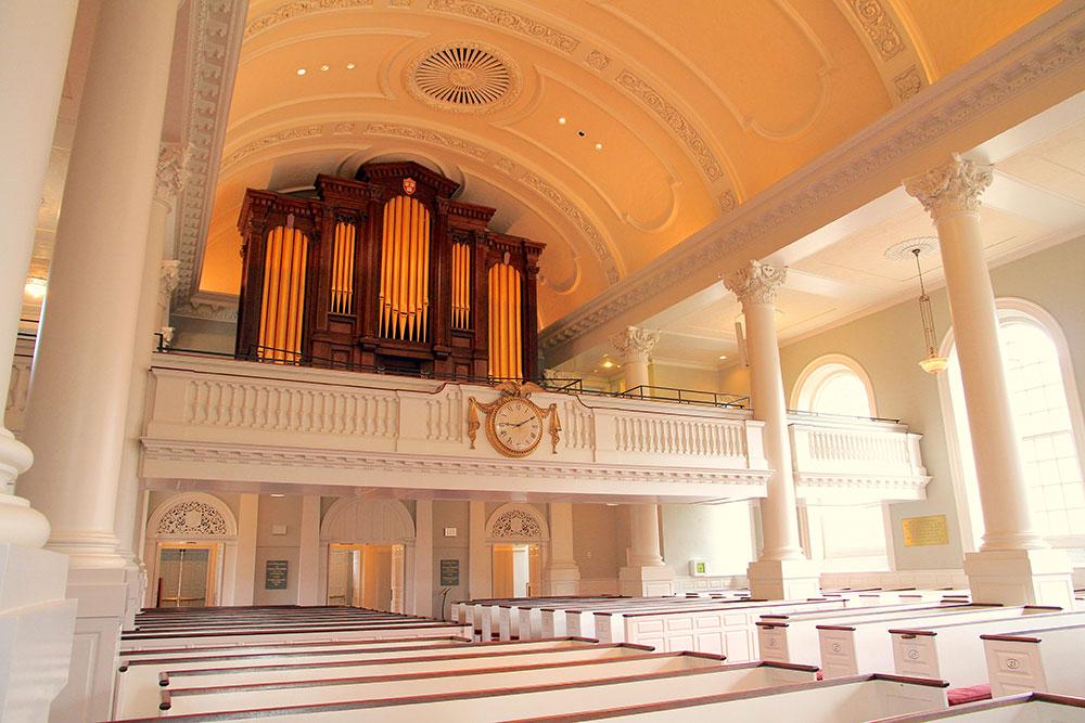 Memorial to Harvard Chapel