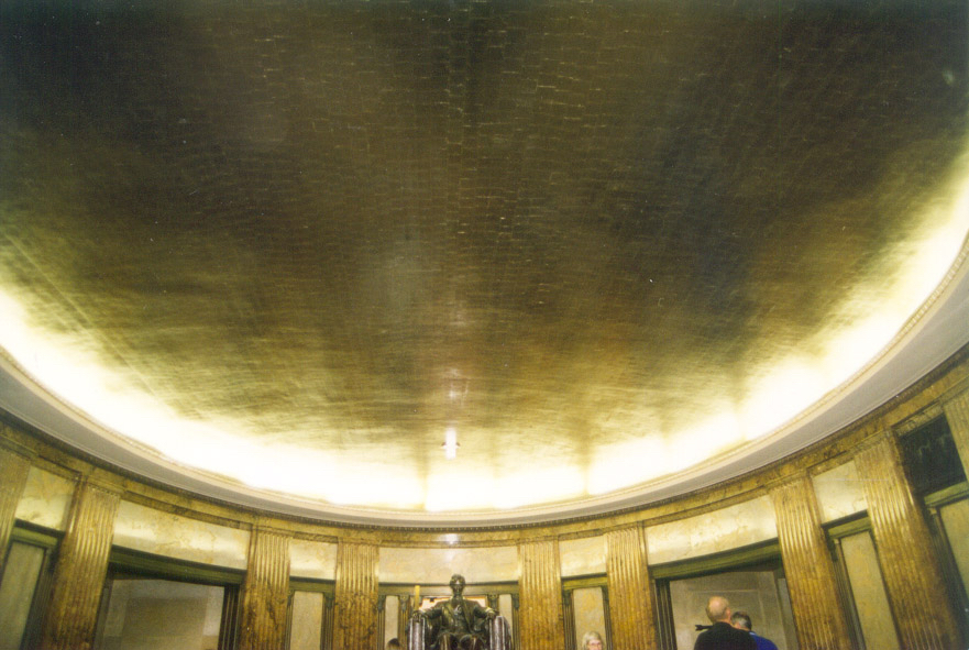 Abraham Lincoln Tomb Historic Site in Springfield, IL - 23KT Gold-leaf Ceilings