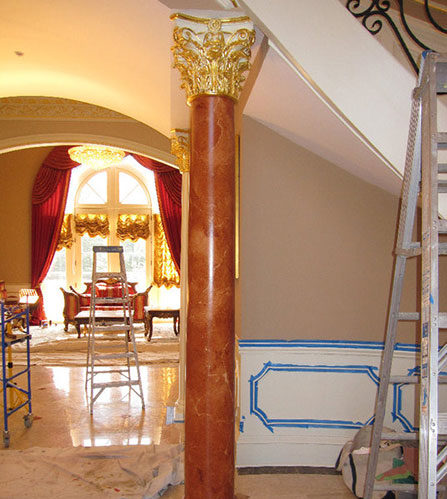 Marbleized Column