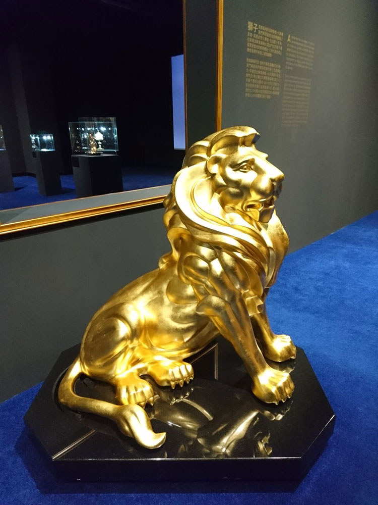 23.75kt Gilded MGM Lion Example