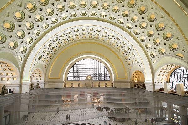 Union Station Washington DC Gilded Ceilings