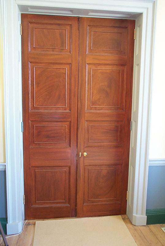 Woodgrained Doors at Riversdale Mansion