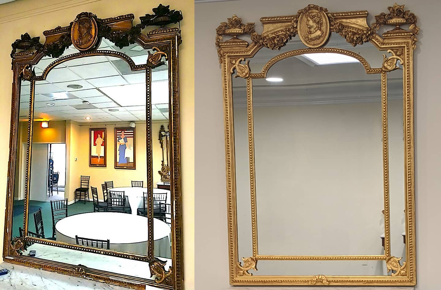 Women's National Democratic Club Victorian Mirror Frame Restoration